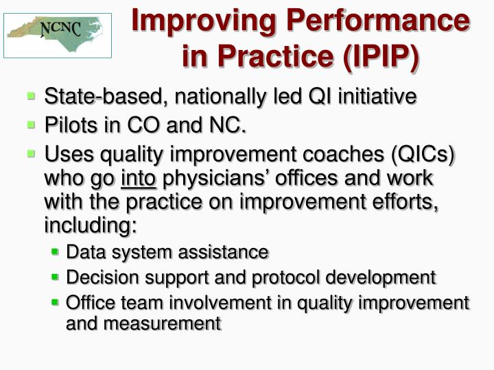Improving Performance in Practice (IPIP)