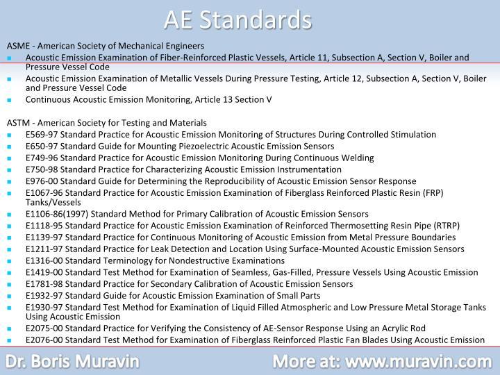 AE Standards