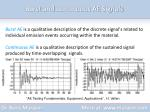 burst and continuous ae signals