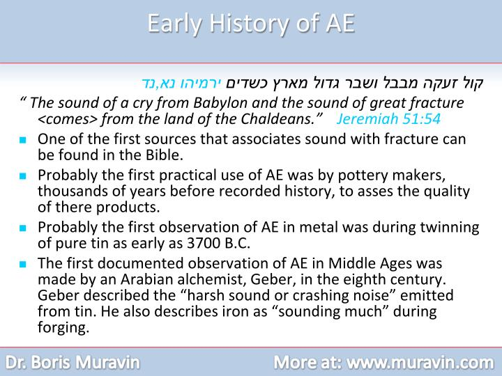 Early History of AE