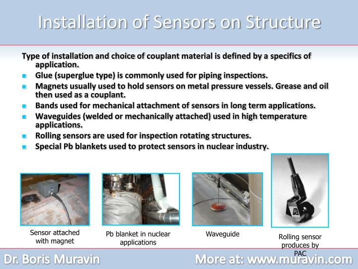 Installation of Sensors on Structure