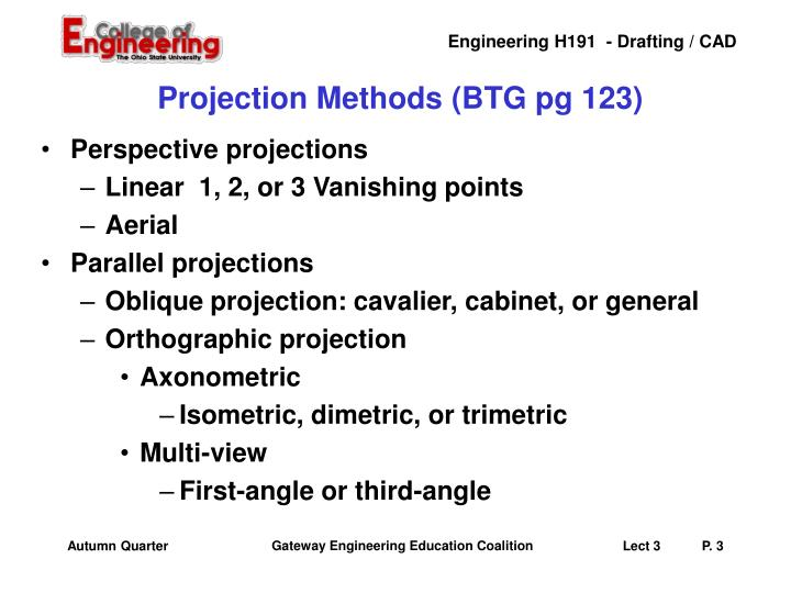 Projection methods btg pg 123