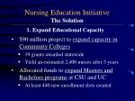 nursing education initiative the solution1
