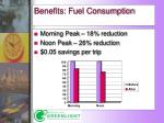 benefits fuel consumption