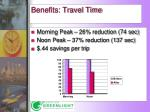 benefits travel time