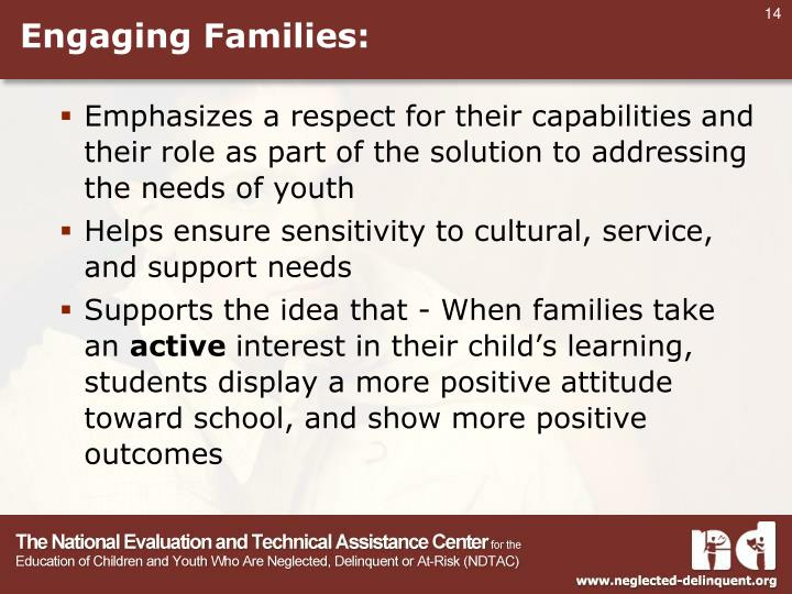 Engaging Families: