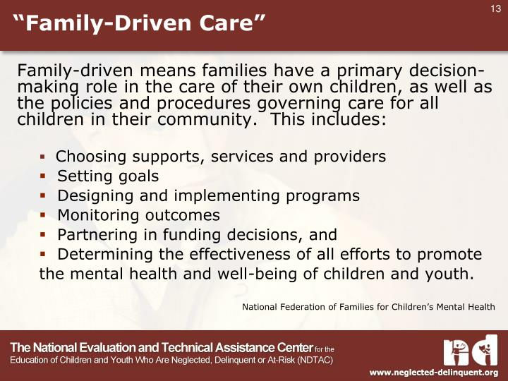 """""""Family-Driven Care"""""""