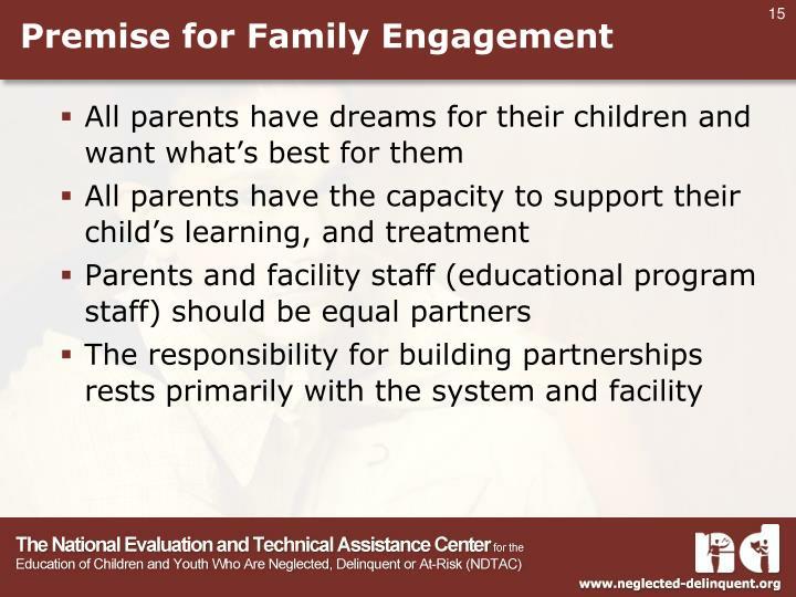 Premise for Family Engagement