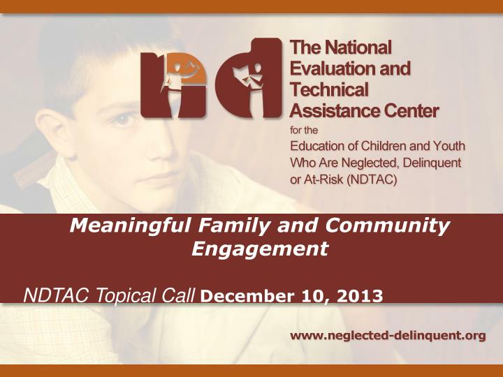 Meaningful Family and Community Engagement