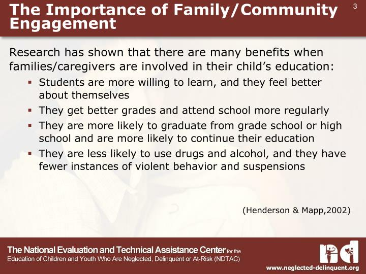 The Importance of Family/Community Engagement