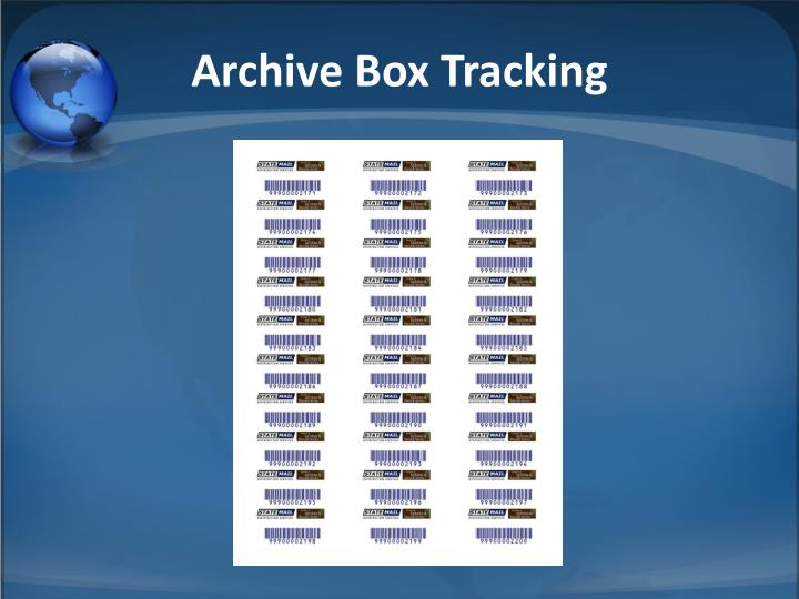 Archive Box Tracking