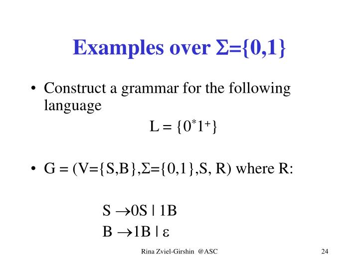 Examples over