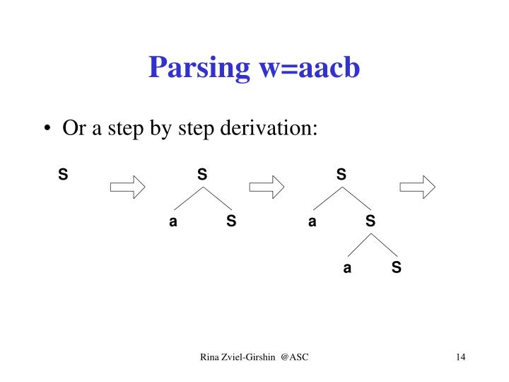 Parsing w=aacb