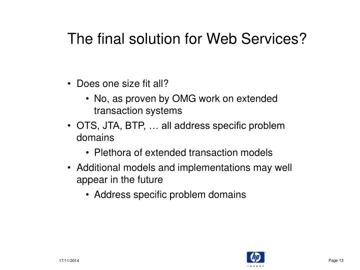 The final solution for Web Services?