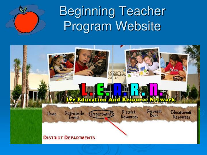Beginning Teacher Program Website