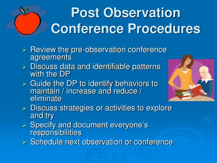 Post Observation Conference Procedures