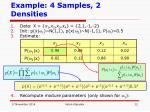 example 4 samples 2 densities