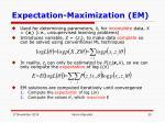expectation maximization em
