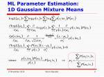 ml parameter estimation 1d gaussian mixture means