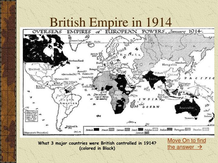 British Empire in 1914