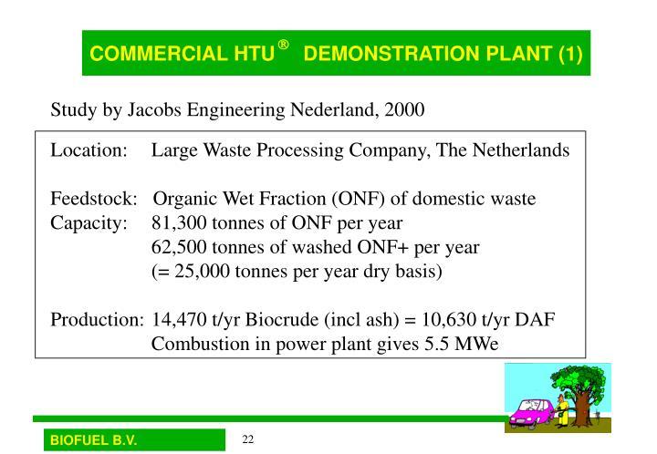 COMMERCIAL HTU     DEMONSTRATION PLANT (1)