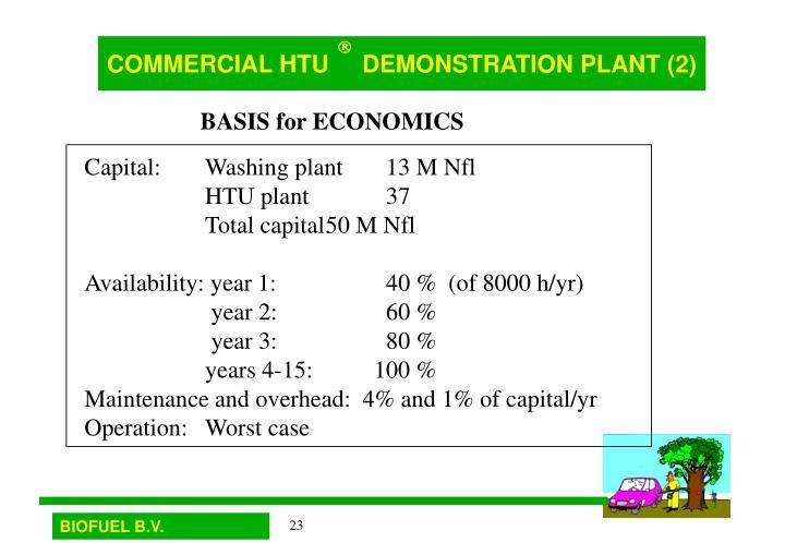 COMMERCIAL HTU     DEMONSTRATION PLANT (2)