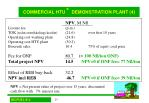 commercial htu demonstration plant 4