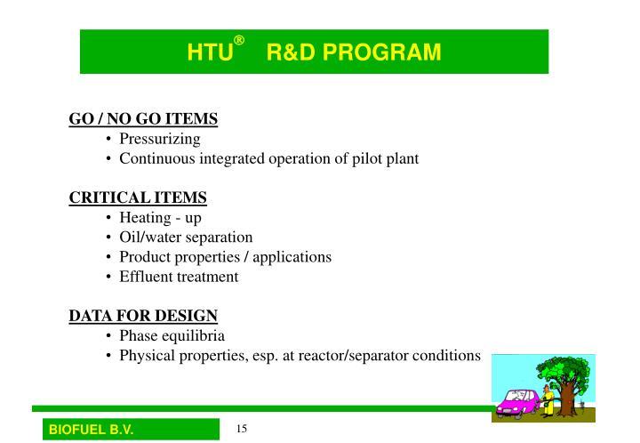 HTU     R&D PROGRAM