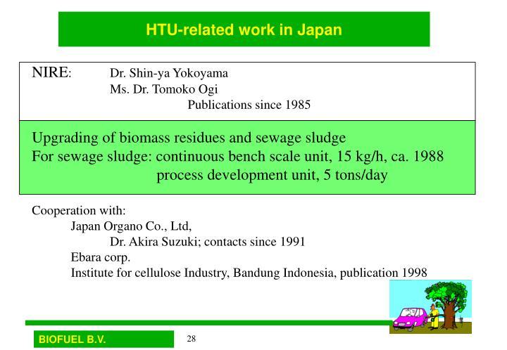 HTU-related work in Japan