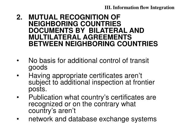 III. Information flow Integration