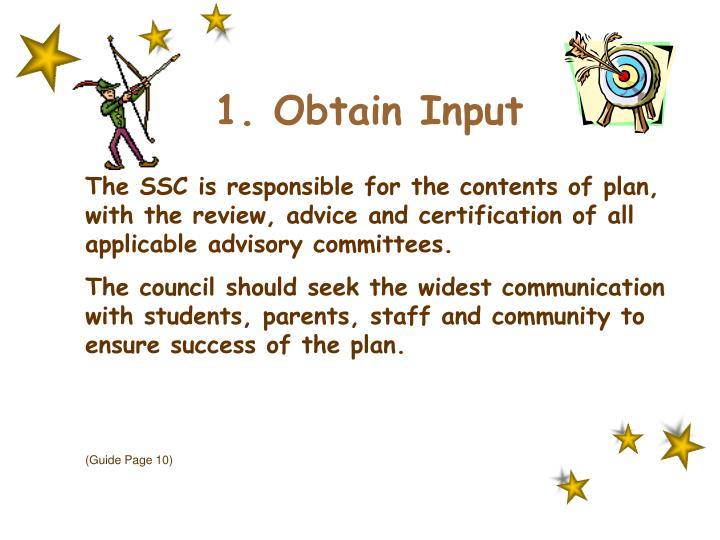 1. Obtain Input