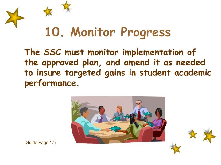 10. Monitor Progress
