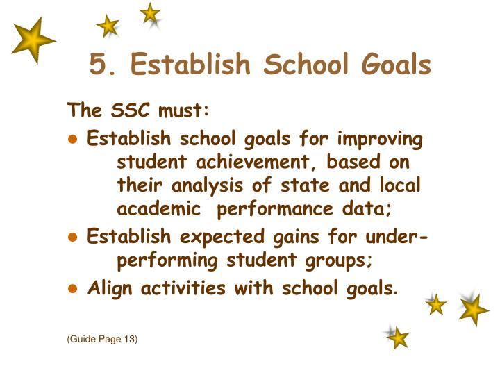 5. Establish School Goals