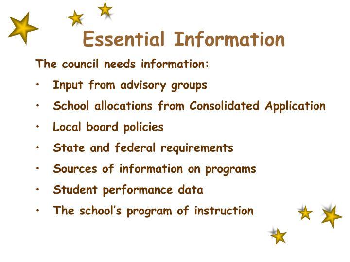 Essential Information