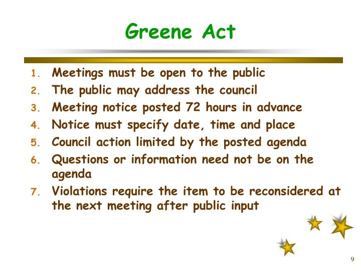 Greene Act
