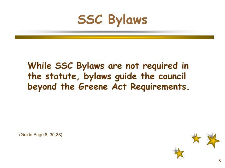 SSC Bylaws