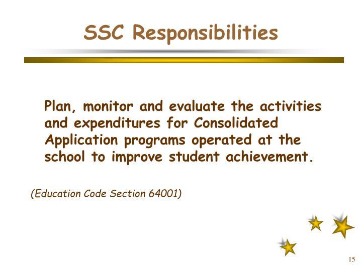 SSC Responsibilities