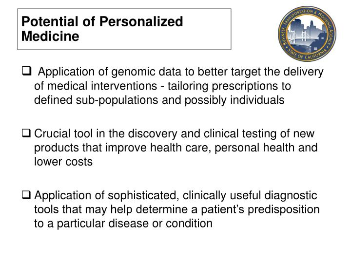 Potential of Personalized Medicine