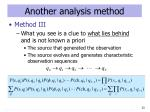 another analysis method