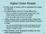 higher order models