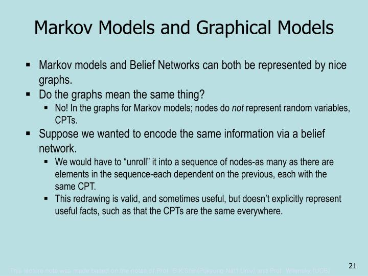Markov Models and Graphical Models