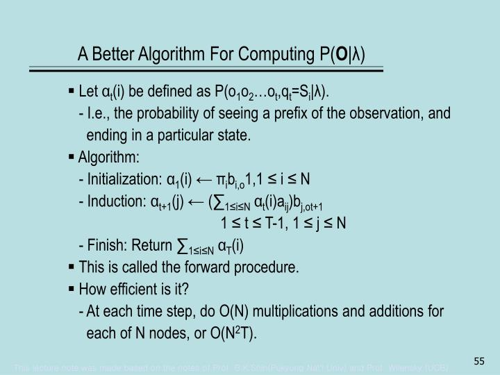 A Better Algorithm For Computing P(