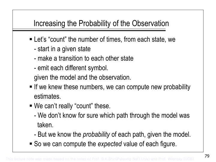 Increasing the Probability of the Observation