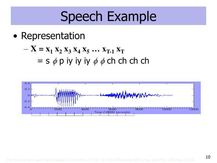 Speech Example