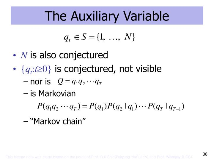 The Auxiliary Variable