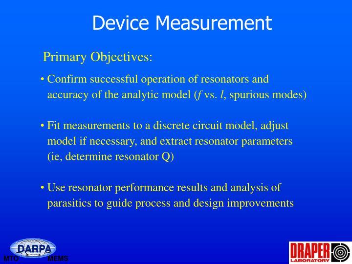 Device Measurement