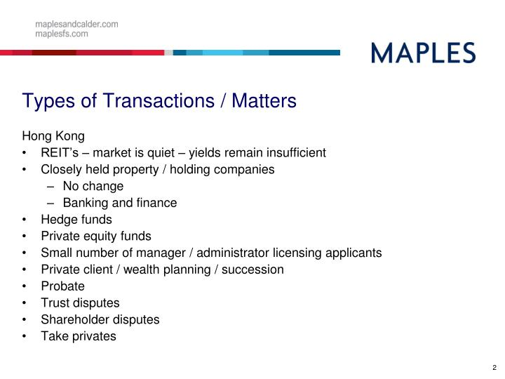 Types of transactions matters