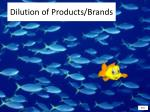 dilution of products brands