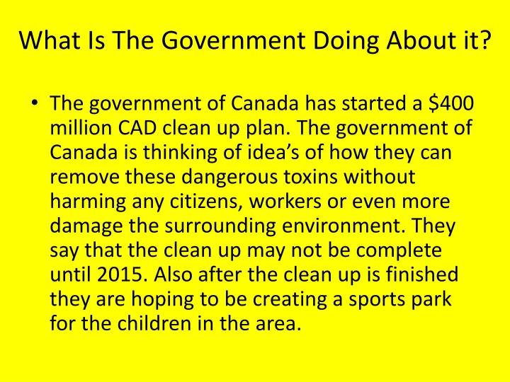 What Is The Government Doing About it?