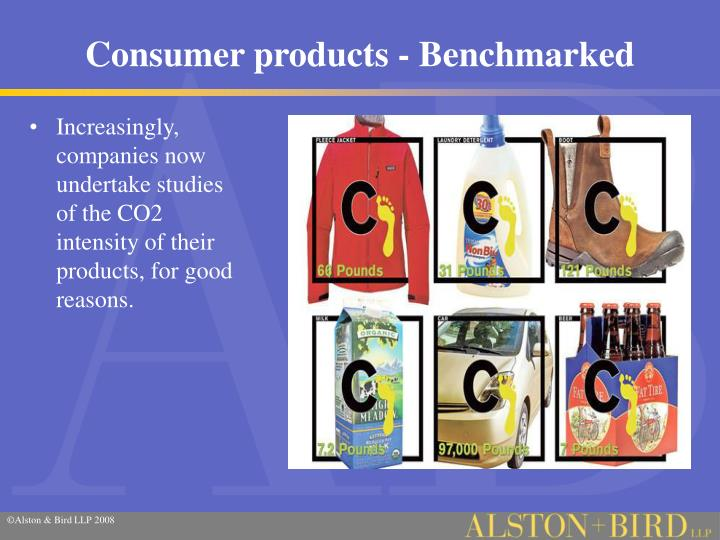 Consumer products - Benchmarked